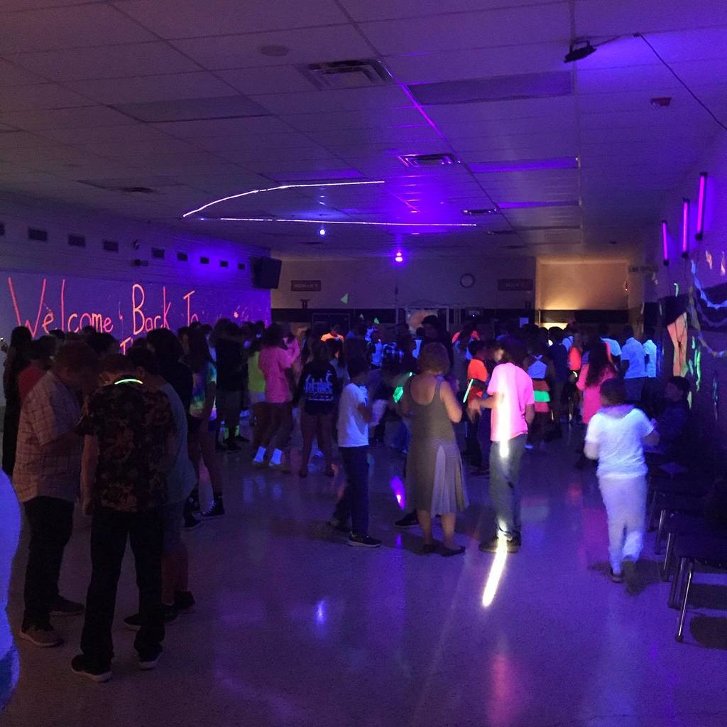 Middle School students enjoying the dance